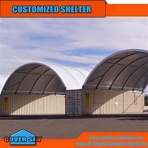 Large steel truss frame40ftx40ft dome container shelter for 40 ft metal trusses