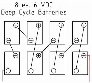 series battery wiring diagram wiring diagram and With solar battery bank wiring diagram