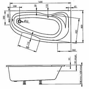 Baignoire Douche Dimension : dimension baignoire excellent dimension et fiche ~ Premium-room.com Idées de Décoration