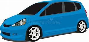 Blue Honda Fit Stock Vector  Illustration Of Wagon