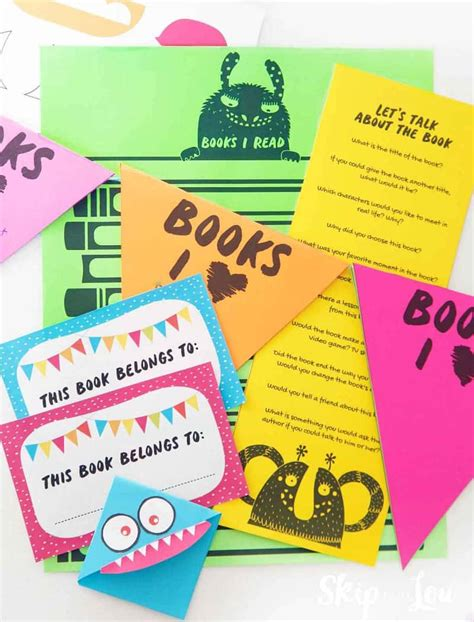 fun printables   kids book club skip   lou