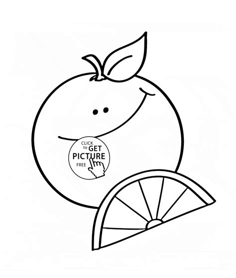 Coloring Oranges by Happy Orange Fruit Coloring Page For