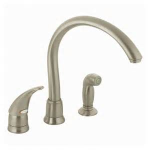Kitchen Faucets Clearance Shop Moen Monticello Stainless Steel Single Handle Kitchen Faucet With Side Spray At Lowes