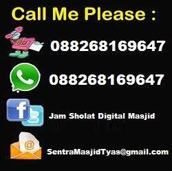 jam sholat digital masjid jawa tengah