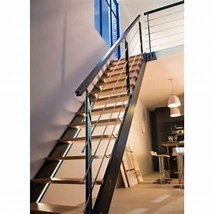 Kit Led Escalier : escalier droit spark led castorama maison pinterest escalier droit led et escaliers ~ Melissatoandfro.com Idées de Décoration