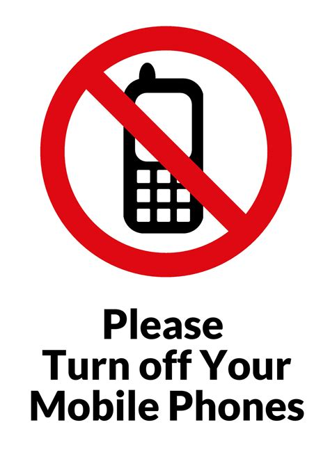 Please Turn Off Your Mobile Phones Free Stock Photo