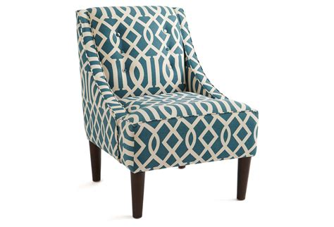 mccarthy swoop arm chair teal accent from one