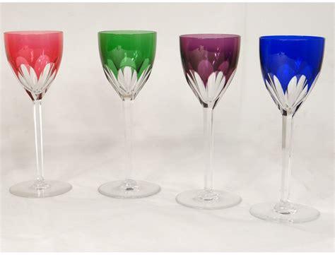 wine glasses rhine cut crystal baccarat france genova