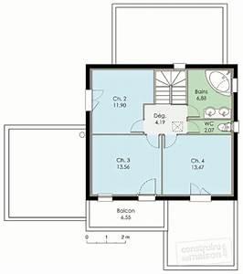 maison contemporaine 2 detail du plan de maison With plan maison etage 100m2 2 maison bbc 2 detail du plan de maison bbc 2 faire