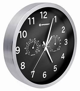 Funk Wanduhr Mit Zifferblattbeleuchtung : bresser wanduhr thermometer hygrometer schwarz wanduhren shop24 ~ Markanthonyermac.com Haus und Dekorationen