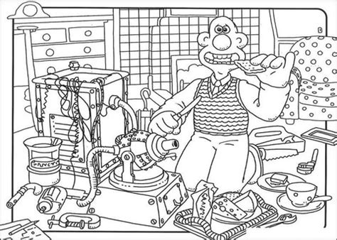 wallace and his favorite cheese coloring page free