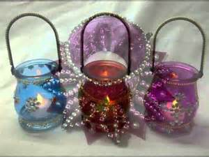 wedding car decorations designer glass diwali diyas