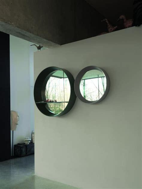 Runde Spiegel Mit Rahmen by Runder Spiegel Mit Aufgeweiteten Rahmen Und Regal Idfdesign