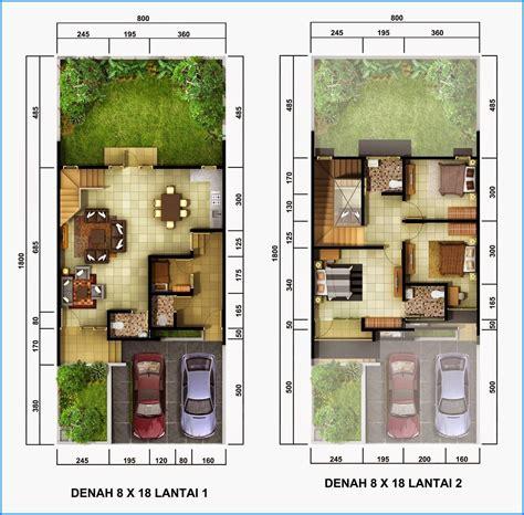 denah rumah minimalis  lantai sederhana denah rumah