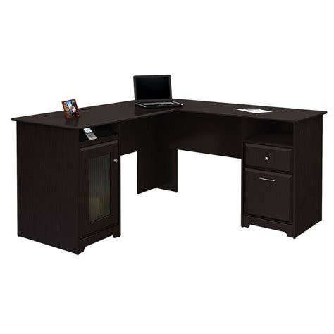 l shaped desk accessories shop bush furniture cabot l shaped desk at lowes com