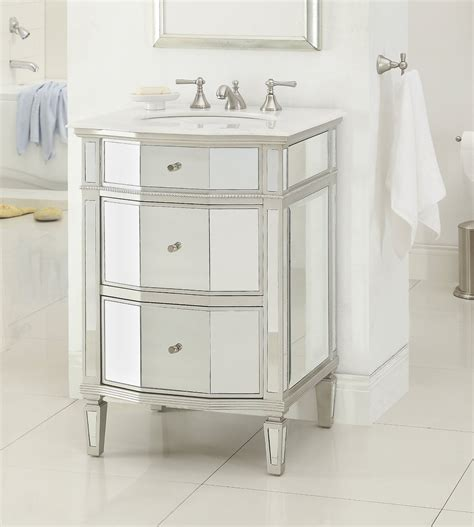24 inch bathroom vanity with sink adelina 24 inch mirrored bathroom vanity imperial white
