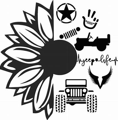 Jeep Svg Cricut Sunflower Vinyl Decals Silhouette