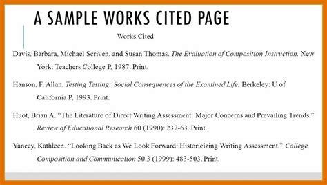 proper mla format works cited