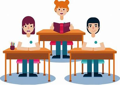 Class Clipart Classroom Clip Lesson Student Transparent