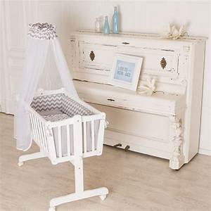 Baby Wiege Weiss : schlaf kindlein schlaf puckdaddy babywiege 90x40cm auch als babybett nutzbar ~ Orissabook.com Haus und Dekorationen