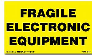 3quot x 5quot electronic equipment fragile labels fragile With electronic shipping label