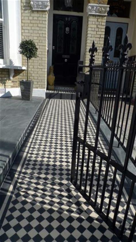 metal gates and rails london victorian mosaic tile