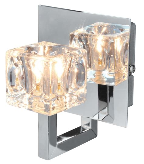 glace chrome effect single wall light departments diy at b q