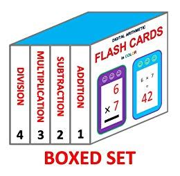 Digital Arithmetic Flash Cards (boxed Set 4 Books In 1) Addition, Subtraction, Multiplication