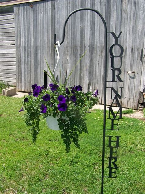 shepherd hook personalized with your name yard garden