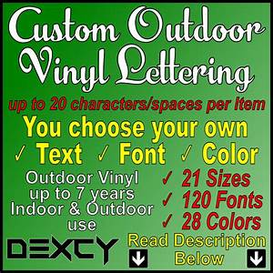buy hand crafted custom vinyl lettering decal sticker With custom outdoor vinyl lettering