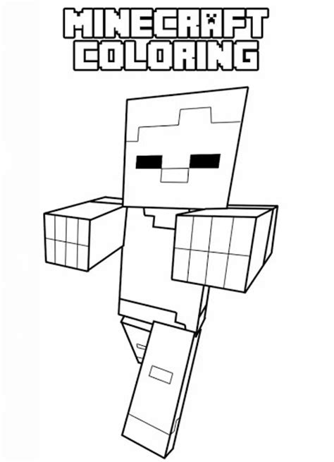 minecraft  print minecraft kids coloring pages