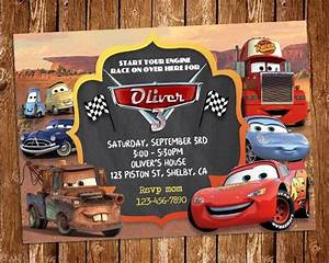 Disney Cars Invitation Disney Cars Invitation Disney Cars Birthday Party Invite