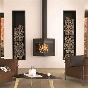 Cheminée Bois Design : libro ~ Premium-room.com Idées de Décoration