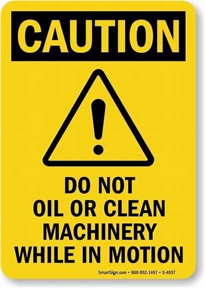 Machinery Clean Oil Safety Caution Motion Machine