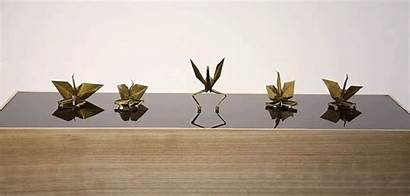 Paper Dancing Origami Stage Cranes Electromagnetic Dance