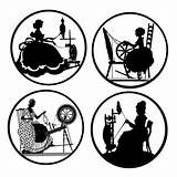 Spinning Silhouette Silhouettes Wheels Coloring Wheel Backed Pinback Magnets Medallions Buttons Flat Inch Similar Visit sketch template
