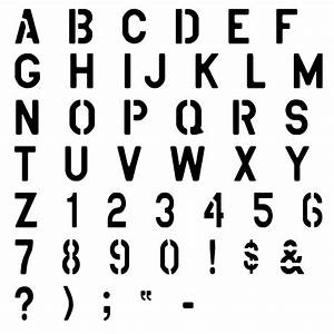free printable alphabet stencils view image design With fun letter stencils