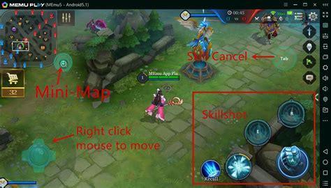 set key mapping  arena  valor moba memu app