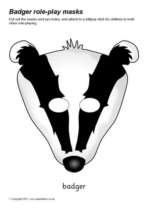 badger role play masks sb sparklebox