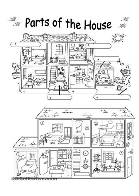 worksheets for kindergarten parts of the house worksheet