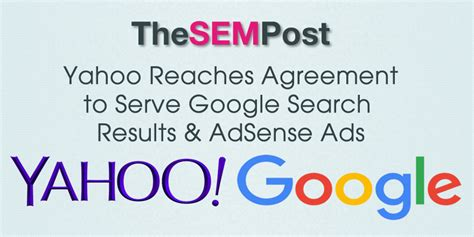 yahoo reaches agreement  serve google search results