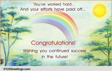 efforts  paid   congratulations ecards greeting cards