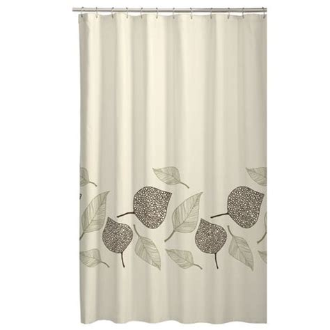 fossil leaf fabric shower curtain walmart canada