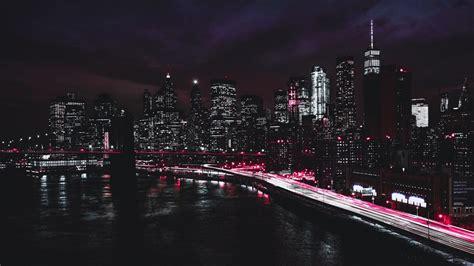 wallpaper  york brooklyn bridge promenade road