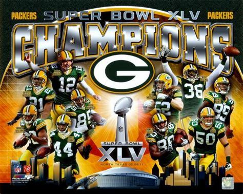 Nfl Green Bay Packers Super Bowl Xlv Champions Composite