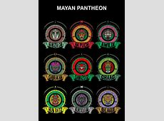 All 9 Mayan Gods Done! Just a