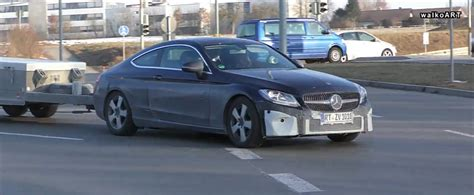 2019 Mercedes Cclass Coupe Facelift Spied Testing New