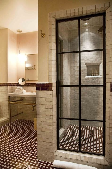 steel  glass shower enclosure contemporary bathroom