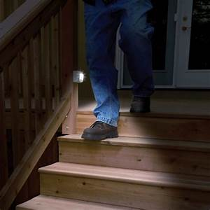 appealing stairs light up with led each time you step With outdoor garage lights wont turn off
