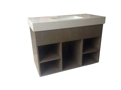 custom open cube solid wood bathroom vanities  tops